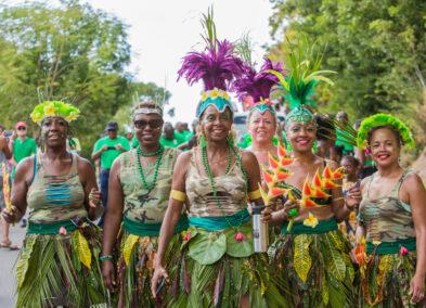 St. Patrick's Costumed revelers